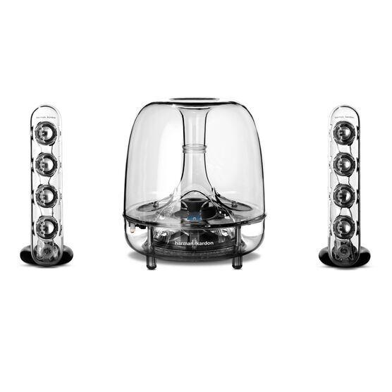SoundSticks Wireless - Clear - Three-piece wireless speaker system with Bluetooth - Front