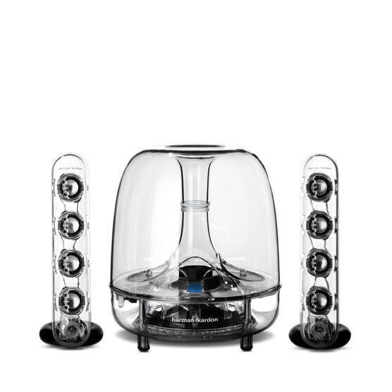 SoundSticks Wireless - Clear - Three-piece wireless speaker system with Bluetooth - Hero